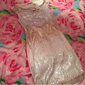 Cutout sequin dress